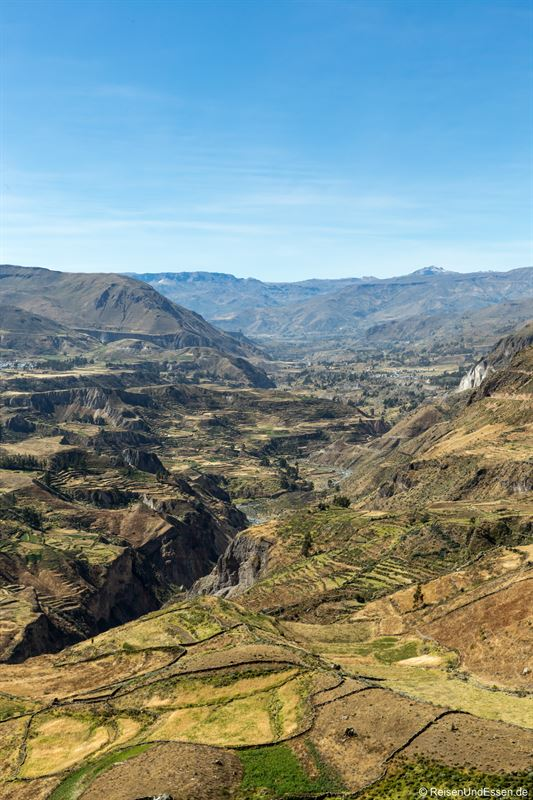Blick in den Colca Canyon in Richtung Chivay