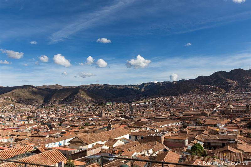Blick auf Cusco von San Blas
