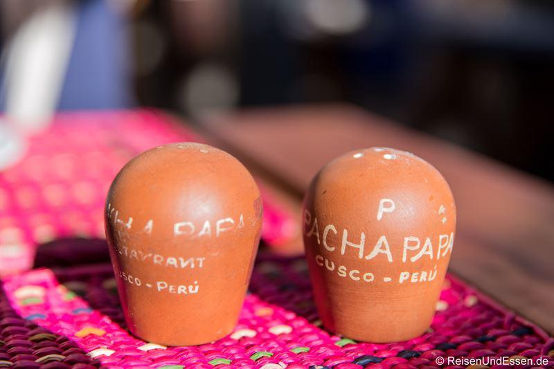 Salz und Pfeffer im Restaurant Pachapapa in Cusco