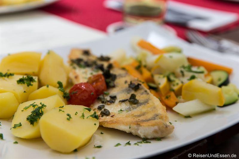 Zanderfilet in der Gaststätte Kronen in Ulm