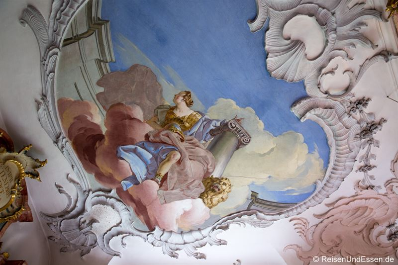 Deckenfresco in der Klosterbibiothek Wiblingen