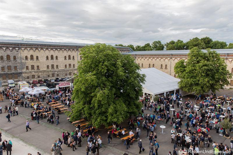 Festivalgelände in der Wilhelmsburg in Ulm