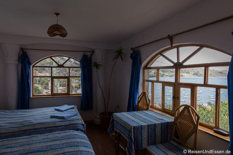 Zimmer im Hostal La Cupula am Titicacasee