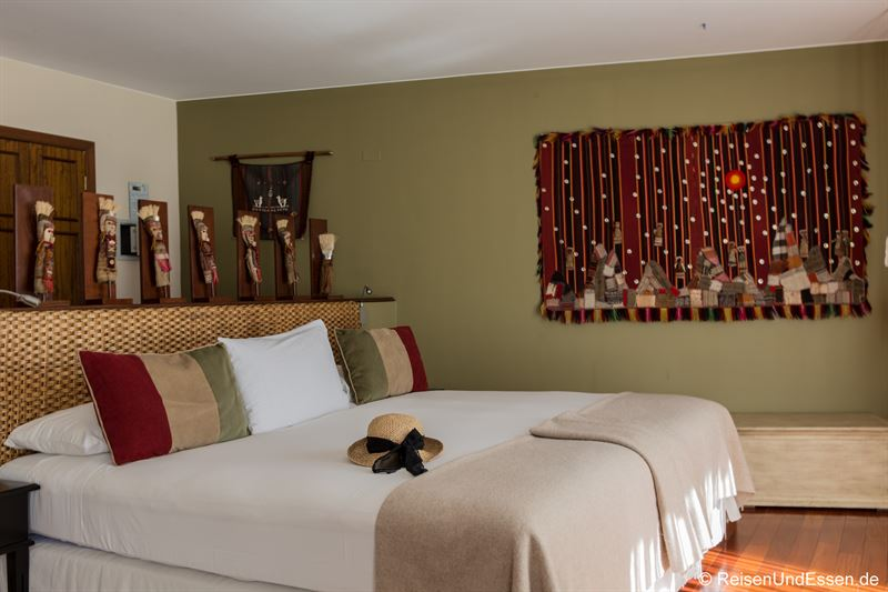 Zimmer mit Doppelbett im Hotel Rosario Lago Titicaca