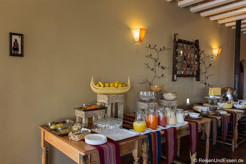 Frühstück im Hotel Rosario Lago Titicaca