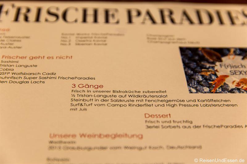 Dinner im Bistro im Frischeparadies München