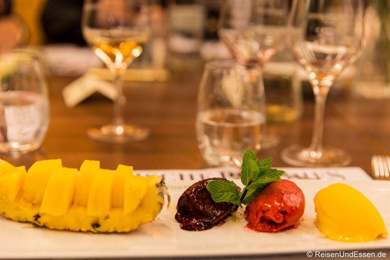 Dreierlei Sorbets mit Panama Ananas