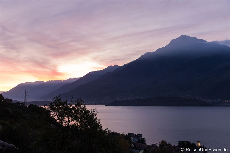 Ferienwohnung mit Aussicht auf Comer See zum Sonnenaufgang