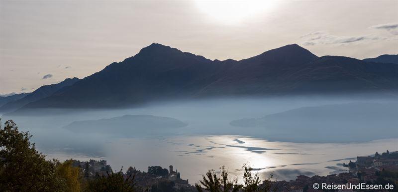Panoramablick auf den Comer See von der Ferienwohnung