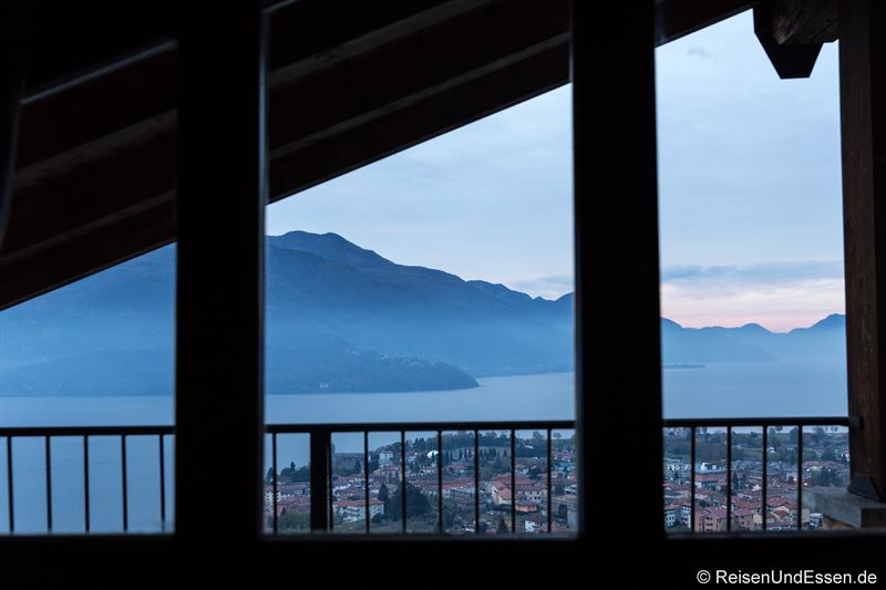 Aussicht vom Schlafzimmer auf den Comer See