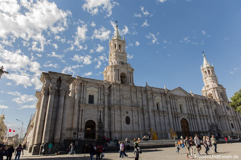 Kathedrale beim Plaza de Armas in Arequipa
