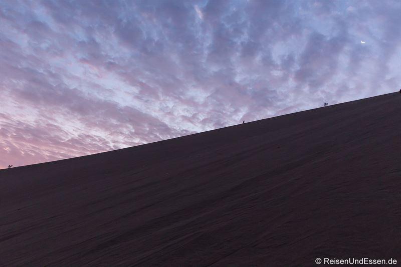 Abend in den Sanddünen von Huacachina