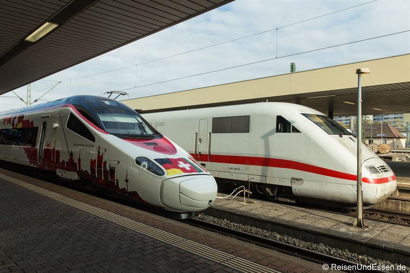 ETR 610 und ICE 1 im Basel Badischer Bahnhof