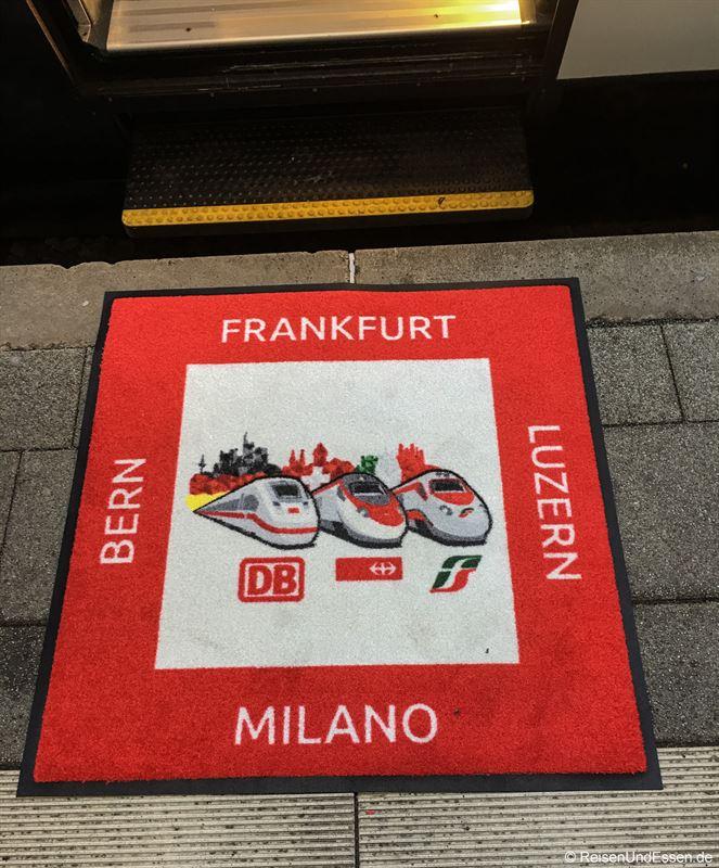 Einstieg in Mannheim in Sonderzug ETR 610