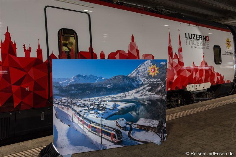 Präsentation von Luzern bei der Sonderfahrt ETR 610
