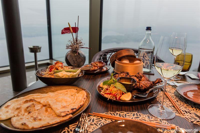 Asiatische Vorspeisen im Spices Kitchen & Terrace
