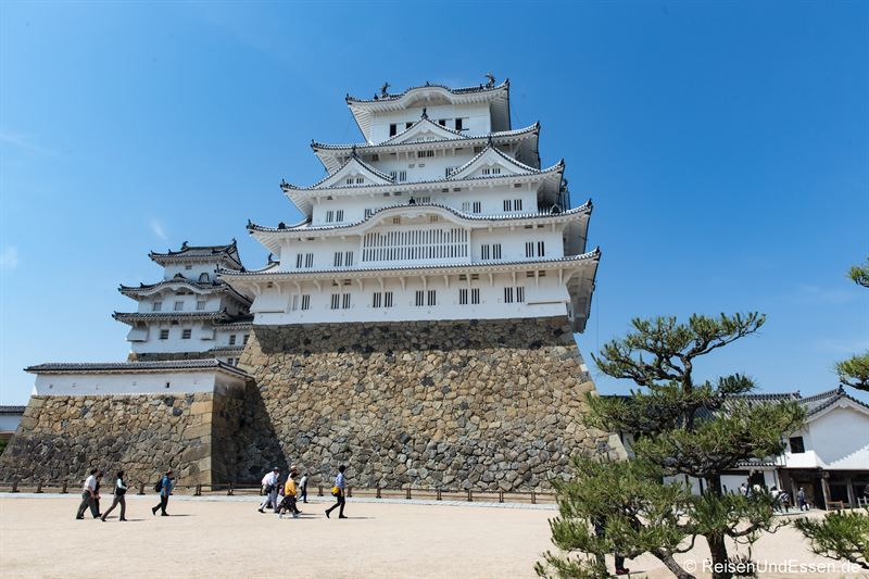 Blick auf die Burg Himeji