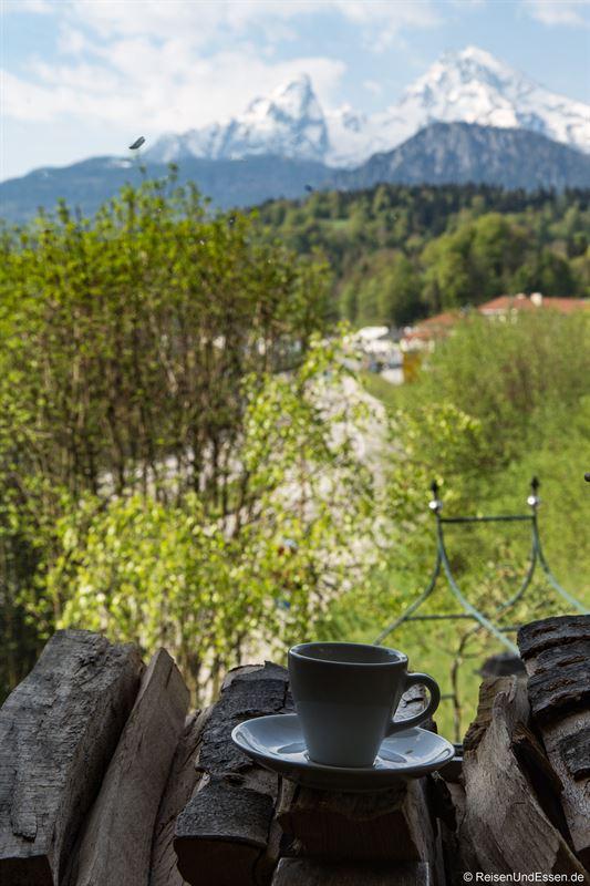 Espresso zum Frühstück im Hotel Bavaria
