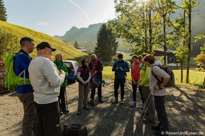 Start der Gruppe morgens in Oberwinkl