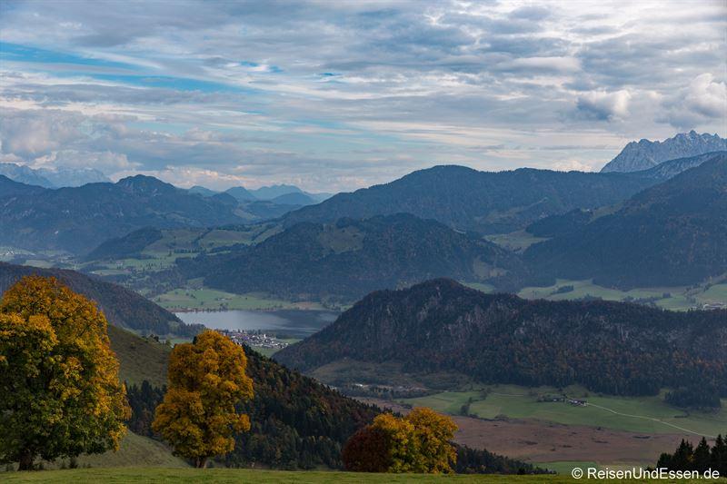 Blick auf den Walchsee (oberhalb von Feistenau)