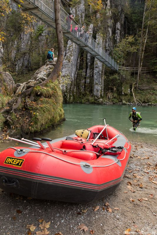 Canyoning in der Tiroler Achen bei Maria Klobenstein im Kaiserwinkl