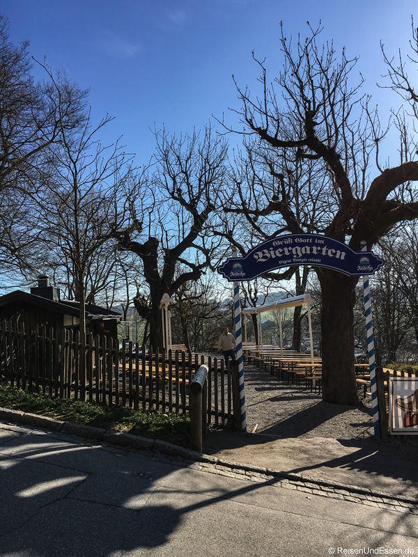 Biergarten beim Kloster Andechs