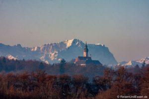 Kloster Andechs und die Zugspitze