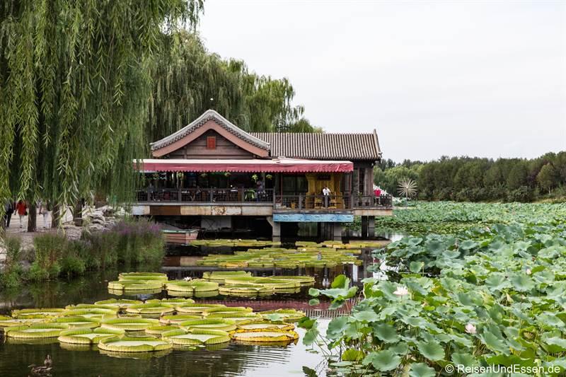 Teehaus im alten Sommerpalast in Peking