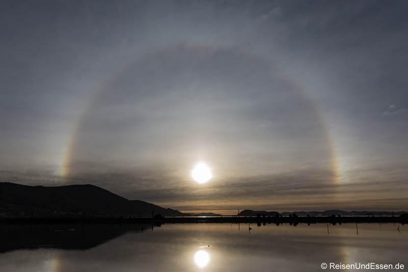 Halo - Lichteffekt am Titicacasee