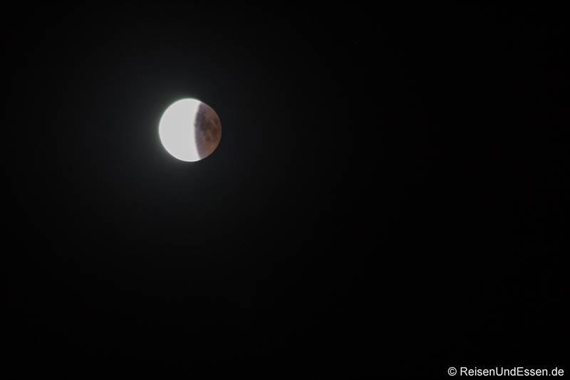 Ende der Mondfinsternis