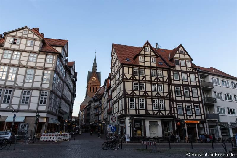 Fachwerkhäuser in der Innenstadt von Hannover