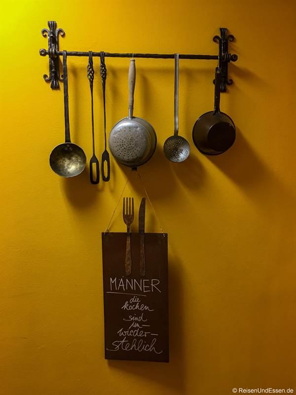 Eingang zur Küche im Hotel Marten