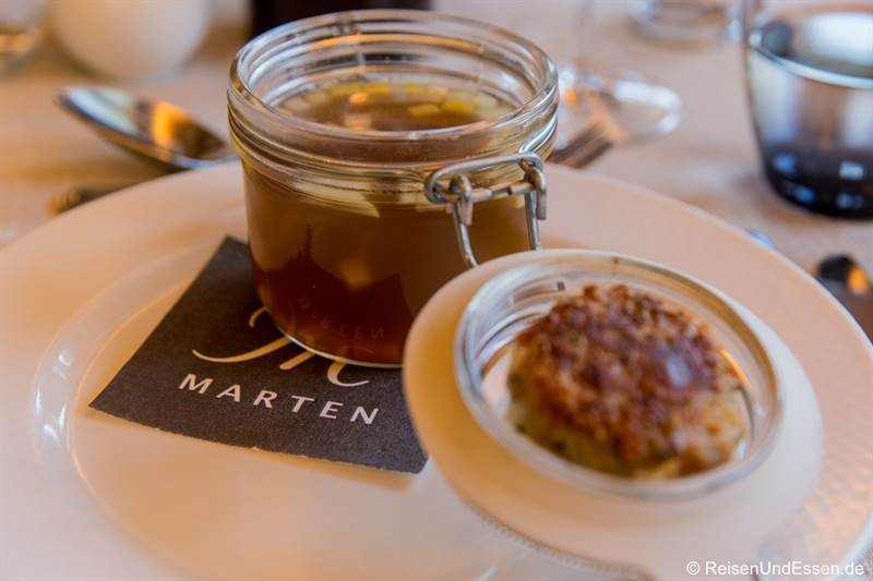 Ochsenschleppsuppe beim Pinzgauer Menü