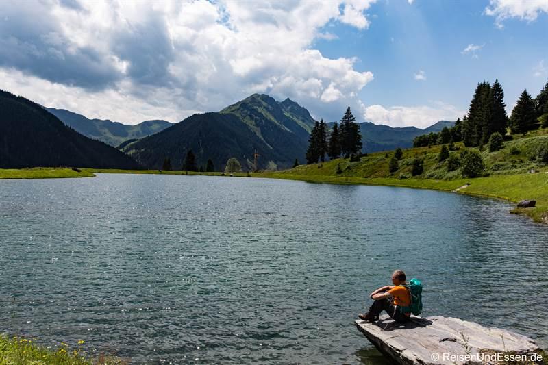 Pause am See oberhalb von Hinterglemm
