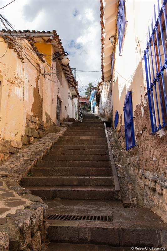 Treppen in San Blas in Cusco