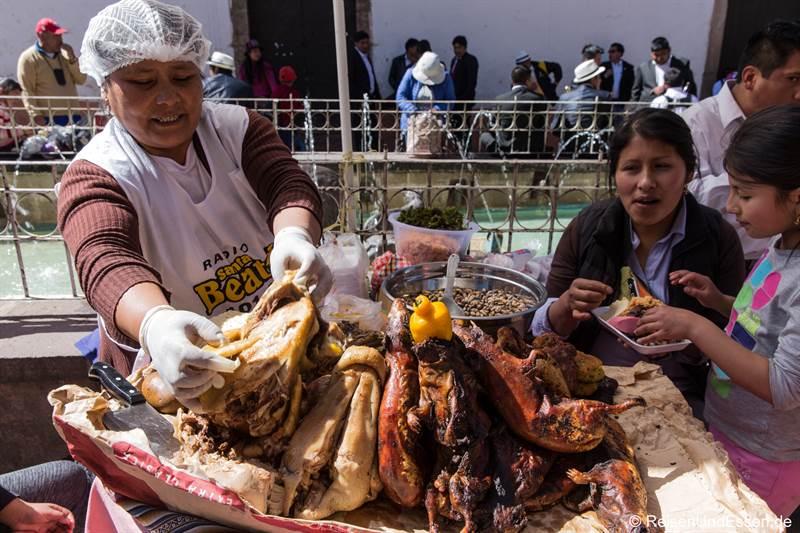 Cuy auf dem Markt in San Pedro