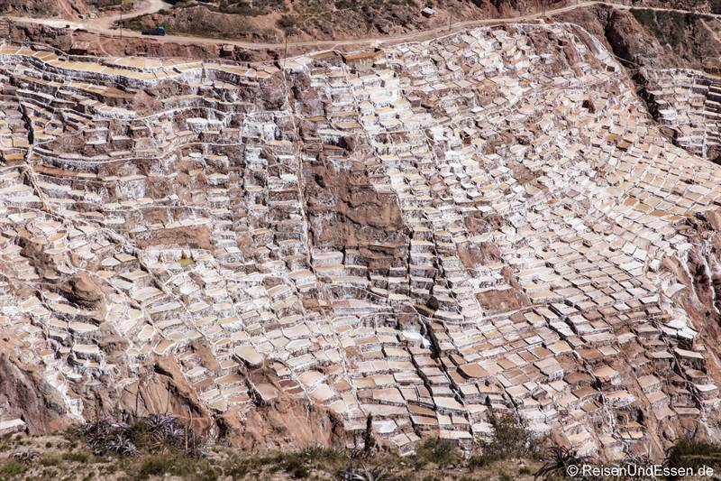 Blick auf die Salzterrassen von Maras