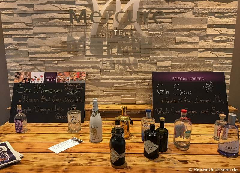 Gin in der Bar im Mercure Stuttgart