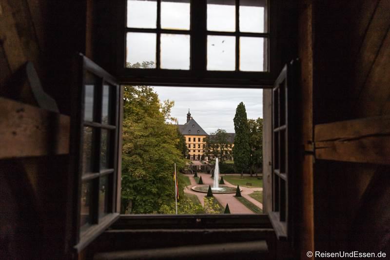 Aussicht vom Dachboden im Maritim Hotel Fulda