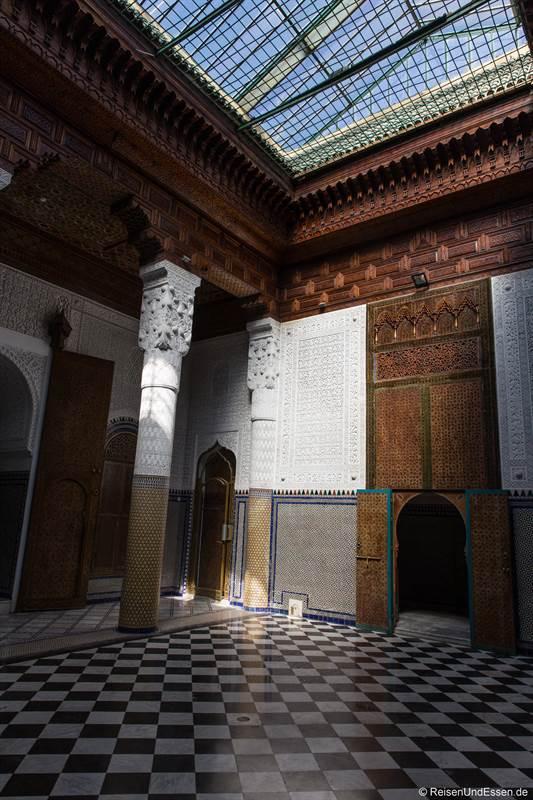 Raum im Dar El Bacha in Marrakesch