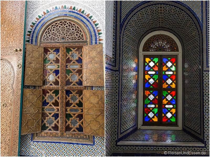 Fenster im Dar El Bacha in Marrakesch