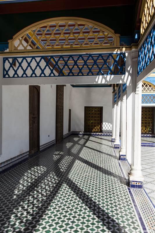Arkaden im Innenhof vom Bahia Palast