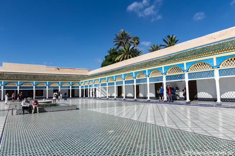 Innenhof im Bahia Palast in Marrakesch