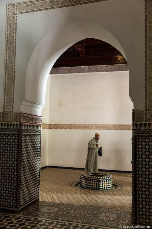 Marrokanischer Besucher im Bahia Palast