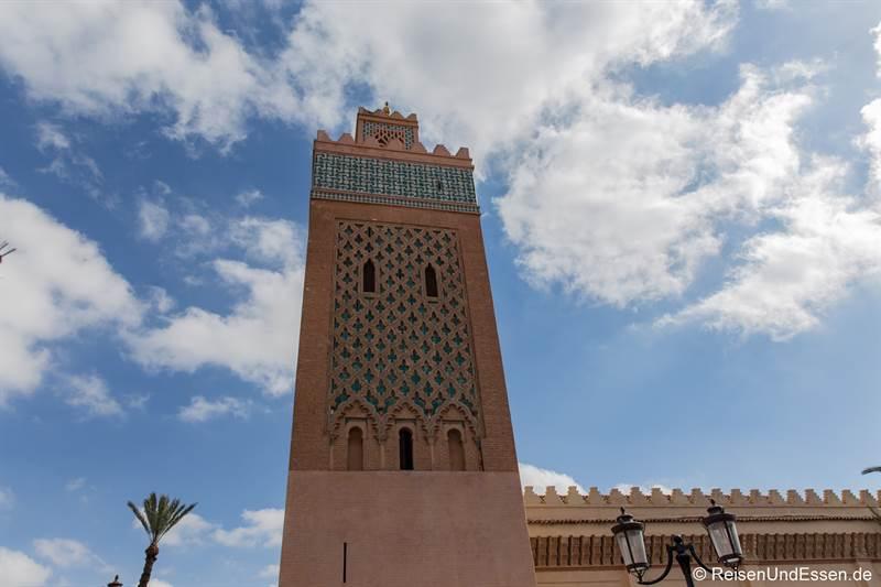 Minarett der Koutoubia Moschee in Marrakesch