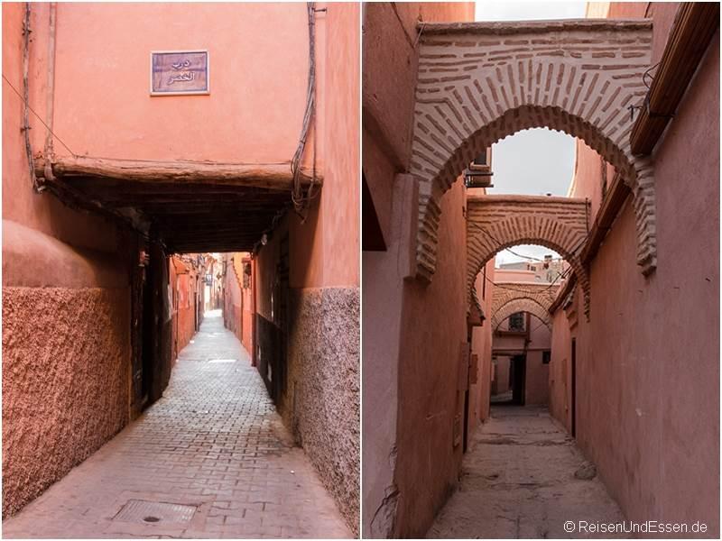 Gassen in den Souks von Marrakesch