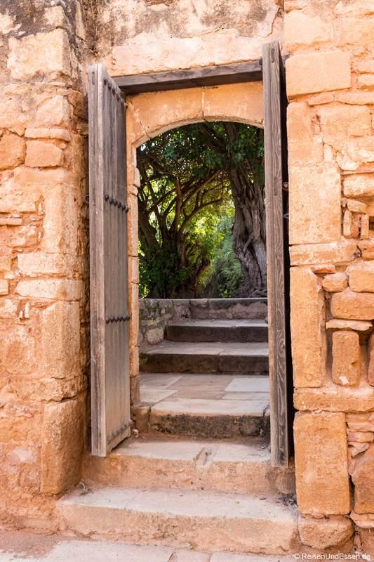 Tür in Chellah bei Rabat