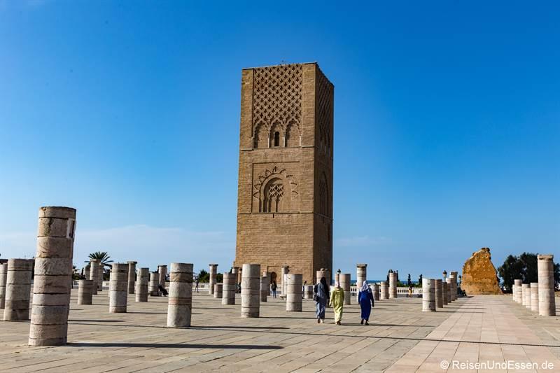 Unvollendeter Hassan-Turm in Rabat