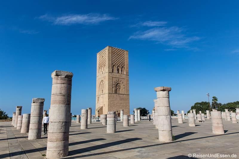 Hassan-Turm mit Säulen in Rabat