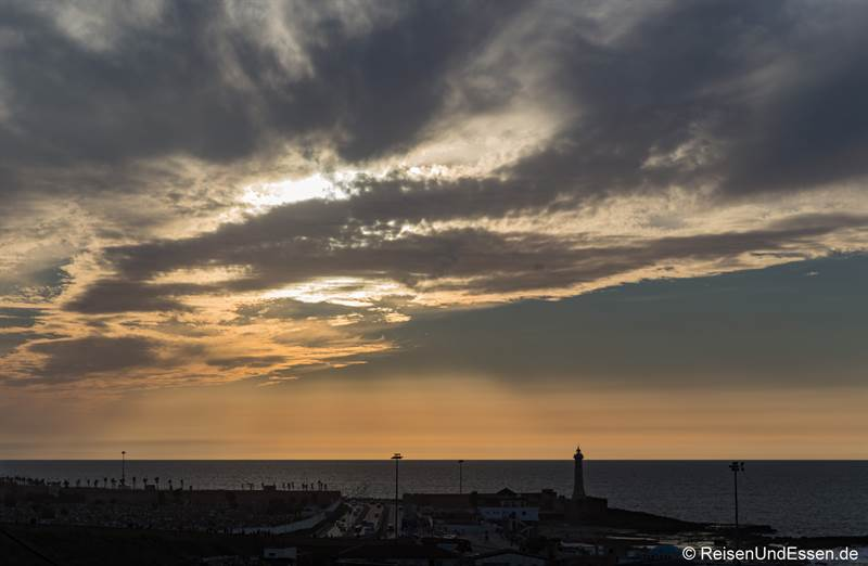 Sonnenuntergang in Rabat